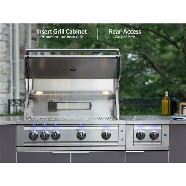 Newage Products Outdoor Kitchen Aluminum 3 Piece Set Lowe S Canada