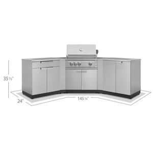 NewAge Products Outdoor Kitchen Stainless Steel 5 Piece Set