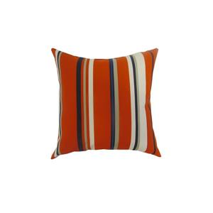 Bozanto 16-in Red Striped Square Outdoor Toss Cushion