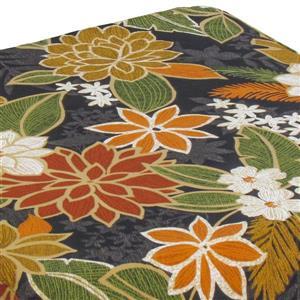 Bozanto 20-in Black Floral  Seam-Sewed Closure Outdoor Seat Cushion