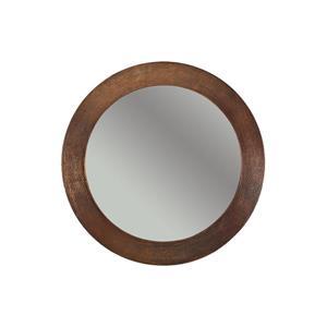 Premier Copper Products 34-in Copper Round Bathroom Mirror