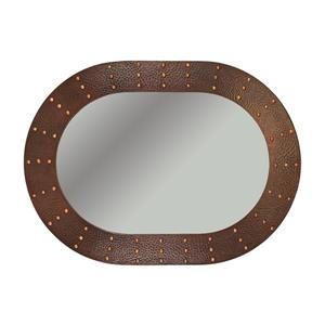 Premier Copper Products 35-in Copper Oval Bathroom Mirror