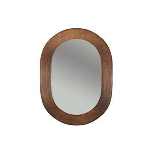 Hand Hammered Oval Copper Mirror