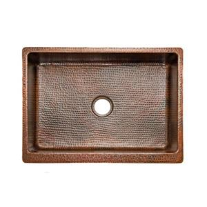 Premier Copper Products 30-in Copper Apron Sink with Drain