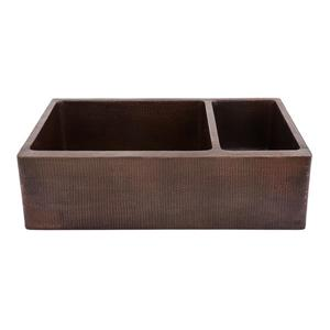 Premier Copper Products 33-in Copper Apron Sink with Drain