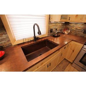Premier Copper Products 33-in Copper Single Basin Sink