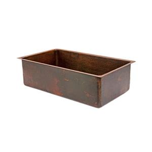 Premier Copper Products 30-in Copper Single Basin Kitchen Sink