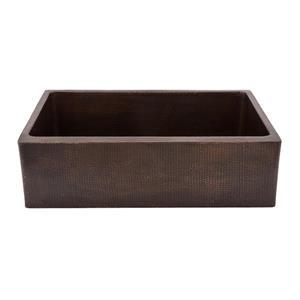 Premier Copper Products 33-in Copper Apron Single Bowl Sink