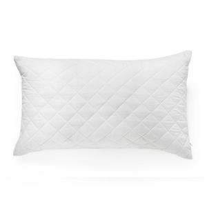 Milano Collection 20-in x 27-In White Quilted Pillow Protector