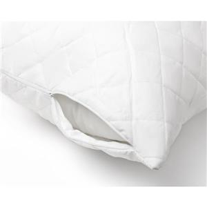 Milano Collection 20-in x 30-In White Quilted Pillow Protector