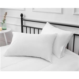 Milano Collection 20-in x 34-In White Pillow Protector
