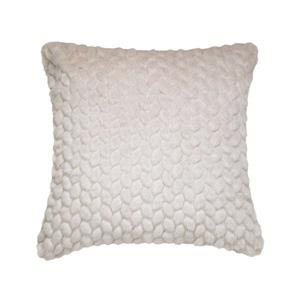 Millano Collection Beige Leaf Decorative Cushion