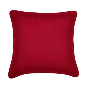 Millano Collection Red Decorative Tweed Cushion