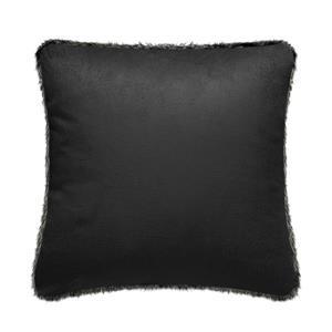 Millano Collection 18-in Black Faux Fur Decorative Cushion