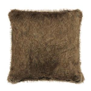 Millano Collection 18-in Brown Faux Fur Decorative Cushion