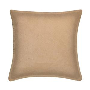 Millano Collection Taupe Decorative Suede Cushion
