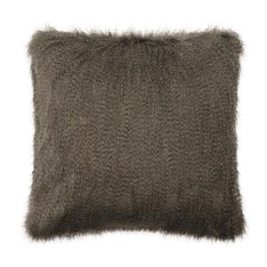 Millano Collection Gray Faux Fur Decorative Cushion