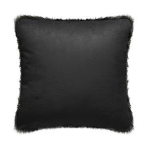 Millano Collection 18-in Dark Gray Faux Fur Decorative Cushion