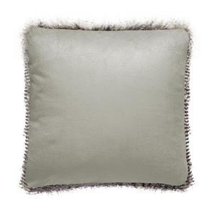 Millano Collection Gray Faux Fur Decorative Cushion