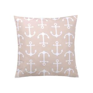 Millano Collection Beige and White Anchor Outdoor Cushion
