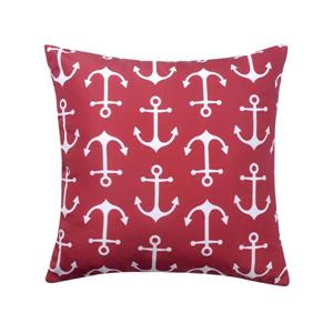 Millano Collection Burgundy and White Anchor Outdoor Cushion