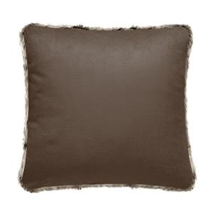 Millano 18-in Brown Faux Fur Decorative Cushion
