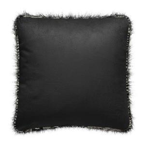 Millano 18-in Brown Faux Fur Jacquard Decorative Cushion