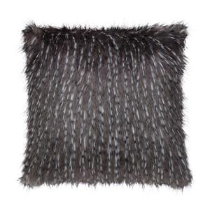 Millano Collection 18-in Gray Eyelash Faux Fur Decorative Cushion