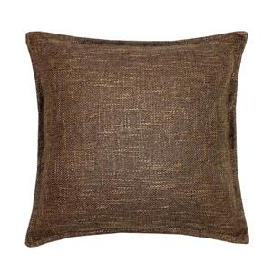 Millano 18-in Brown Burlap Decorative Cushion