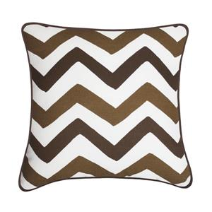 Millano Welton Decorative Cushion - Herringbone - Brown/Taupe