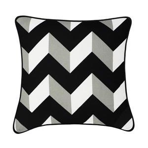 Millano 18-in Black Herringbone Verde Decorative Cushion