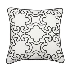 Millano 18-in Gray Vista Decorative Cushion
