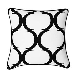 Millano 18-in Black Trumbell Decorative Cushion