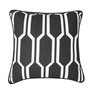Millano 18-in Gray and White Hayden Decorative Cushion