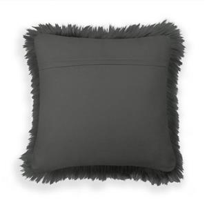 Millano 18-in Gray Faux Fur Decorative Cushion