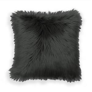 Long Haired Faux Fur Throw Pillow