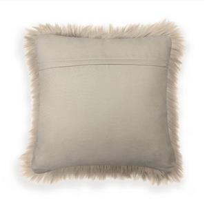 Millano 18-in Beige Faux Fur Decorative Cushion