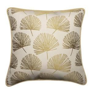 Millano 18-in Gold Dandelion Decorative Cushion