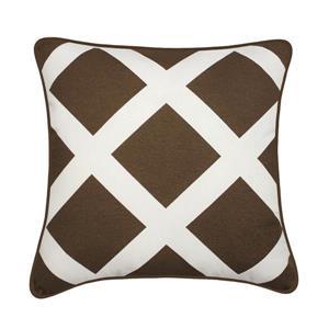 Millano 18-in Brown Duncan Decorative Cushion