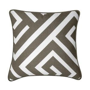 Millano Collection Maize 18-in Brown/White Decorative Cushion