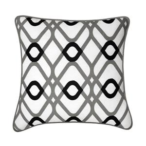Millano Collection Aria 18-in Square Gray Decoration Cushion