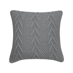 Millano Collection 18-in Gray Cable Knit Decorative Cushion