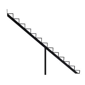 Pylex 7.5-in x 9-in Black 13 Step Aluminum Stair Riser