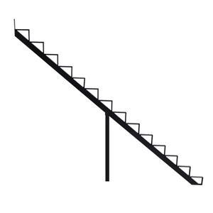 Pylex 7.5-in x 9-in Black 14 Step Aluminum Stair Riser