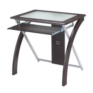 OSP Designs Brown Computer Desk