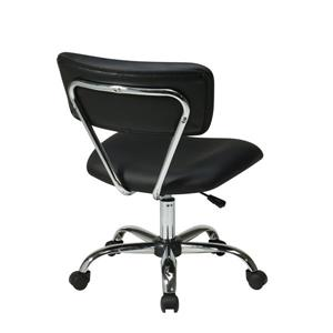 Ave Six Vista Office Chair - Black Vinyl - 20.75-in