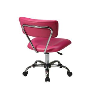Ave Six Vista Office Chair - Pink Vinyl - 20.75-in