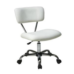 Ave Six Vista 20.75-in White Vinyl Office Chair