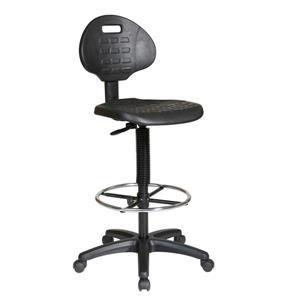 Work Smart™ 32.00-in x 18.50-in Black Drafting Chair