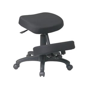 Work Smart™ 23.00-in x 17.00-in Black Ergonomic Knee Chair With Memory Foam